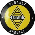 plaque émaillée : RENAULT SERVICE.