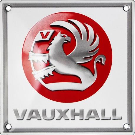 Plaque émaillée  :  VAUXHALL .