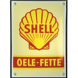 Plaque émaillée : SHELL.