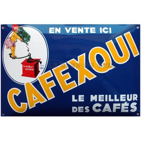 Plaque émaillée : CAFEXQUI