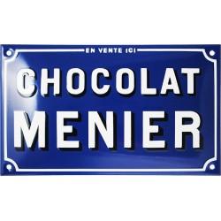 Plaque émaillée : CHOCOLAT MENIER