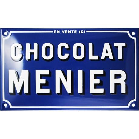 Plaque émaillée : CHOCOLAT MENIER EN VENTE ICI