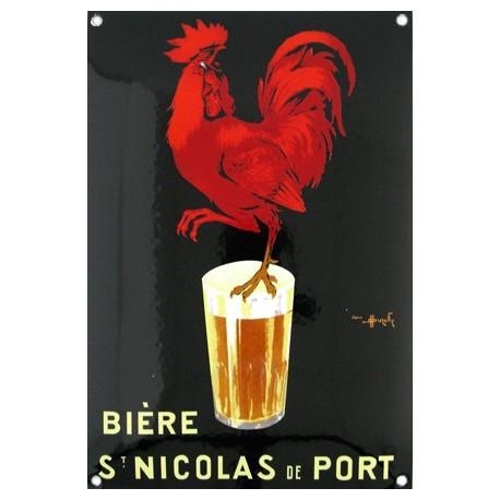Plaque émaillée : BIÈRE ST NICOLAS DE PORT.