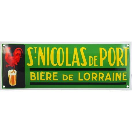plaque émaillée BIERE ST NICOLAS DE PORT