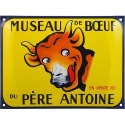 Plaque émaillée : MUSEAU DE BOEUF.