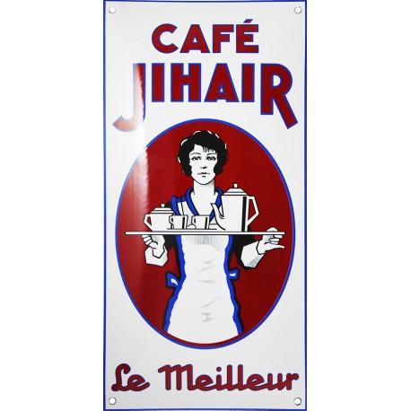 Plaque émaillée : CAFE JIHAIR.
