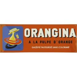 Plaque émaillée : ORANGINA