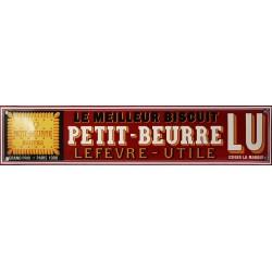 Plaque émaillée : PETIT BEURRE LU.