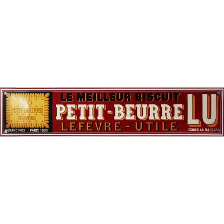 Plaque émaillée   : PETIT BEURRE LU LE MEILLEUR BISCUIT