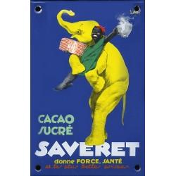 plaque émaillée Cacao SAVERET