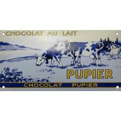Plaque émaillée : CHOCOLAT PUPIER.