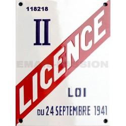 Plaque émaillée professionnelle Licence II 15x20cm (hotel, restauration, bar)  ou date de naissance, cadeaux entre amis.