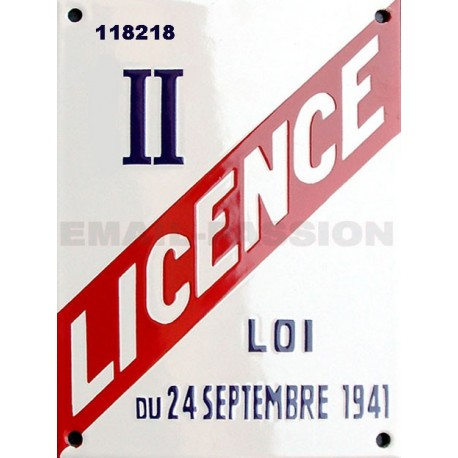 Plaque émaillée professionnelle (hotel, restauration, bar) Licence II ou inscription date de naissance, cadeaux entre amis.