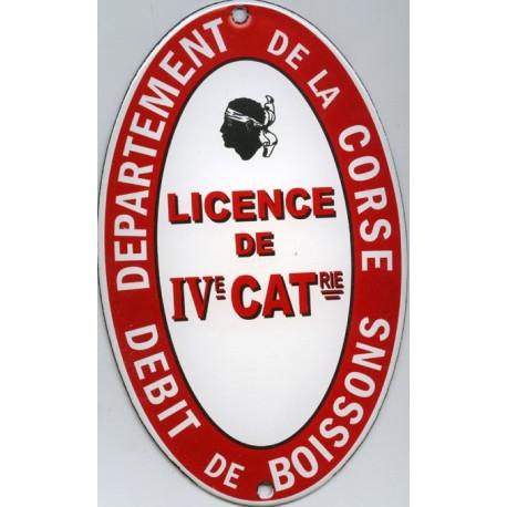 plaque émaillée  plate LICENCE IV CORSE (décoration)