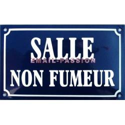 plaque de rue émaillée 25 x 16 cm : SALLE NON FUMEUR