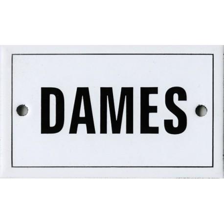 Plaque émaillée 6x10cm plate : DAMES