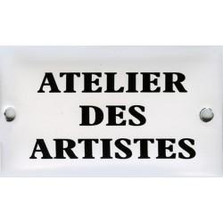 Plaque émaillée humoristique : ATELIER DES ARTISTES