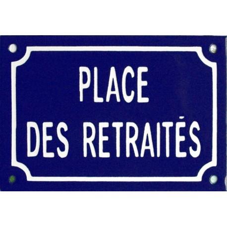 plaque de rue maill e place des retrait s. Black Bedroom Furniture Sets. Home Design Ideas