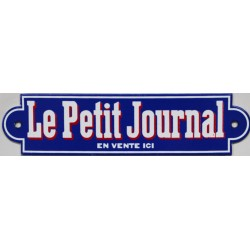 Plaque émaillée plate  : LE PETIT JOURNAL.