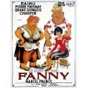 Plaque émaillée bombée : FANNY de M. Pagnol