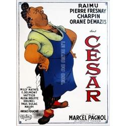 Plaque émaillée bombée : CÉSAR de M. Pagnol