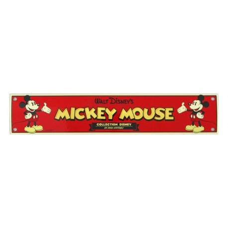 Plaque émaillée : LE JOURNAL DE MICKEY.