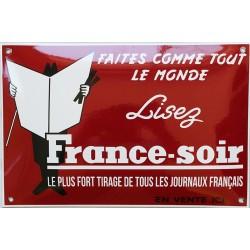 Plaque émaillée : FRANCE SOIR