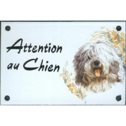 Plaque émail 10x15cm Attention au Chien : Labrit