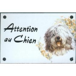Plaque émail 10x15cm Attention au Chien : Labrit