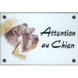 Plaque émail 10x15cm Attention au Chien : Snoozer