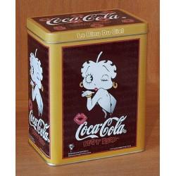 Boite métal pour thé, café, chocolat etc...dimension 15x12x8cm Betty Boop noir