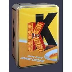Boite à sucre publicitaire relief dimension 20x13x7cm Bouillon KUB
