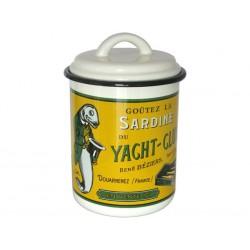 Pot émaillé avec couvercle, de 15x10cm La sardine