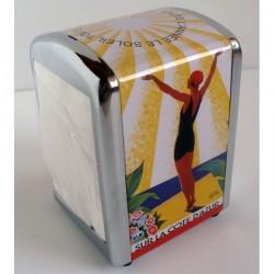 Distributeur avec Serviettes métal inox soleil toute l'année 10x10x14cm
