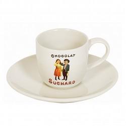 Tasse à café céramique avec soucoupe : collection SUCHARD
