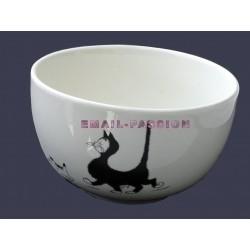 Bol céramique chat par Dubout