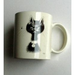 Meug céramique chat par Dubout