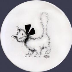 Assiette céramique DESSERT chat par Dubout