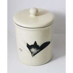 Pot moyen céramique chat gros dodo