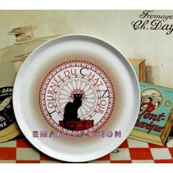 Plat céramique à Tarte ou à Fromage collection Tournée du Chat Noir