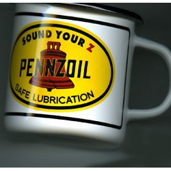 Mug émaillé collection  PENNZOIL