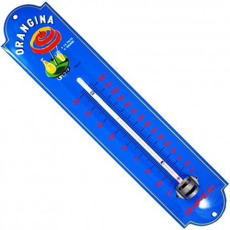 Thermomètre émaillé bombé hauteur 30cm : ORANGINA