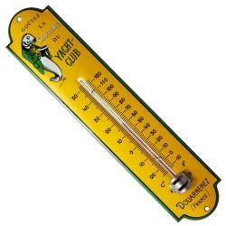 Thermomètre émaillé bombé hauteur 30cm : SARDINE DU YACHT-CLUB