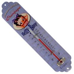 Thermomètre métal  bombé hauteur 30 cm  BETTY BOOP