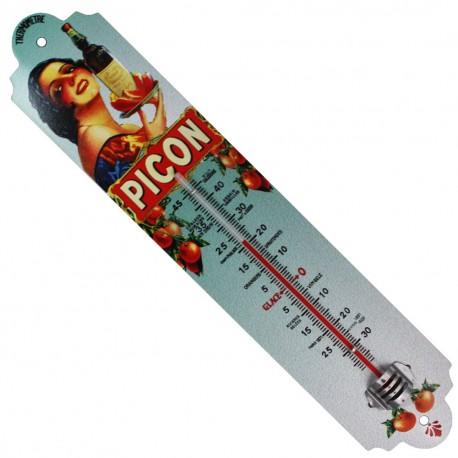 Thermomètre métal bombé hauteur 30 cm PICON