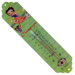 Thermomètre métal bombé hauteur 30cm : BETTY BOOP