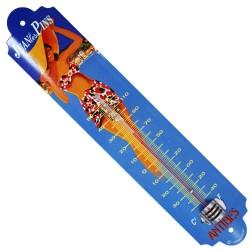 Thermomètre métal bombé hauteur 30cm : JUAN LES PINS-ANTIBES