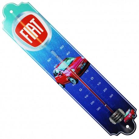 Thermomètre métal bombé hauteur 30cm: FIAT