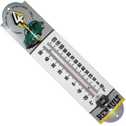 Thermomètre émaillé, bombé hauteur 30cm : RENAULT 4 CV