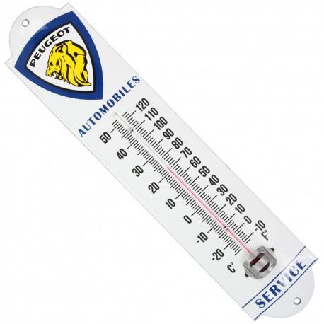 Thermomètre émaillé, bombé hauteur 30cm : PEUGEOT